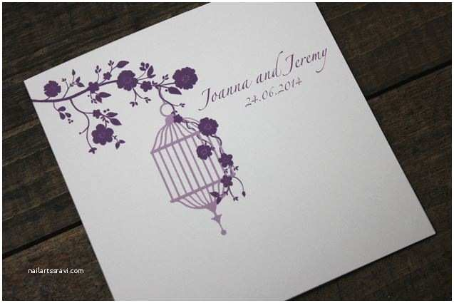 Purple Vintage Wedding Invitations Purple Vintage Birdcage Wedding Invitation From the