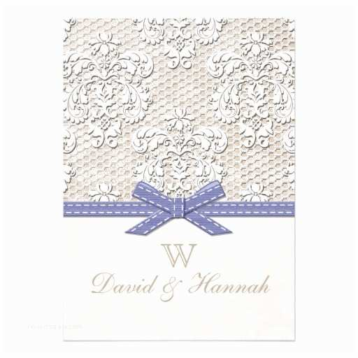 "Purple Vintage Wedding Invitations Purple Vintage Lace Wedding Invitations 5"" X 7"" Invitation"