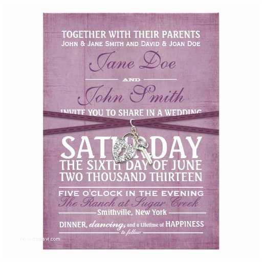 """Purple Vintage Wedding Invitations Vintage Purple Paper Wedding Invitation 6 5"""" X 8"""