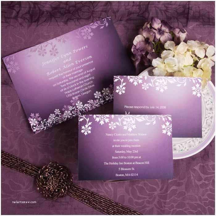 Purple Vintage Wedding Invitations Wedding Invitation Wordings To Invite Friends(parte