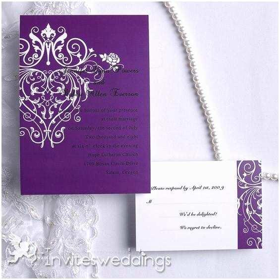 Purple Wedding Invitations Cheap Wedding Invitations Weddbook
