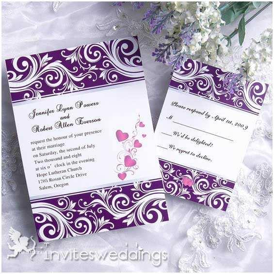 Purple Wedding Invitations Creative Noble Purple Wedding Invitation Iwi088 Wedding