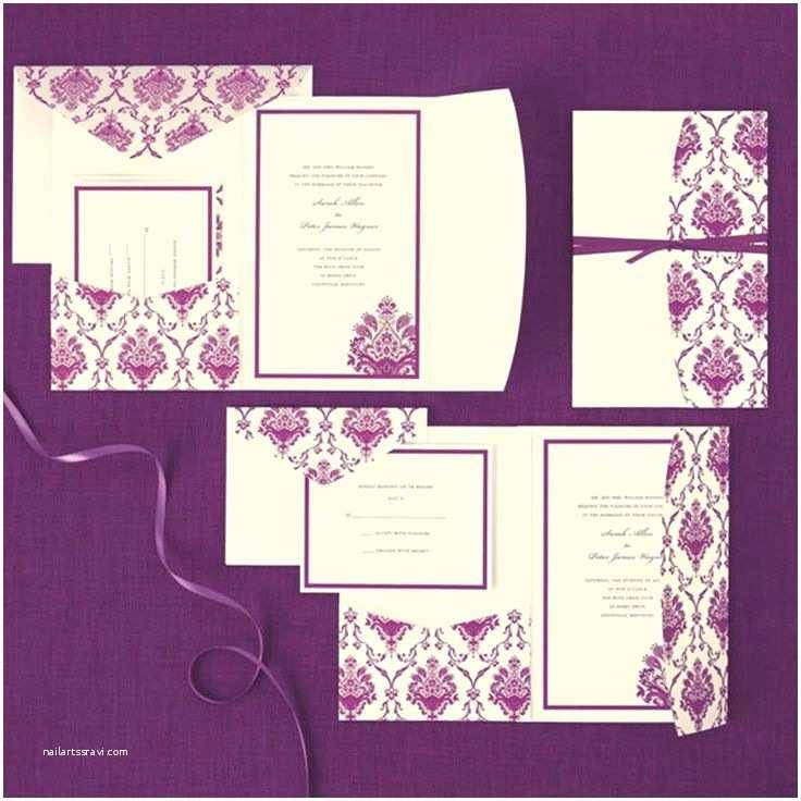 Purple Wedding Invitations Kits 1000 Ideas About Pocket Invitation On Pinterest