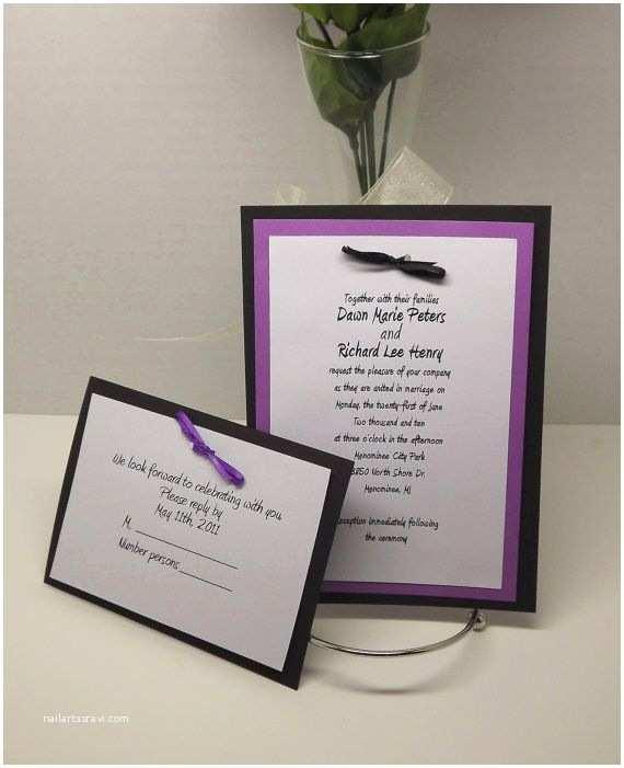 Purple Wedding Invitations Kits Best 25 Diy Wedding Invitation Kits Ideas On Pinterest