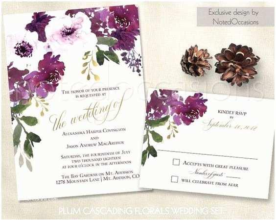 Purple Wedding Invitations Kits Pinterest • the World's Catalog Of Ideas