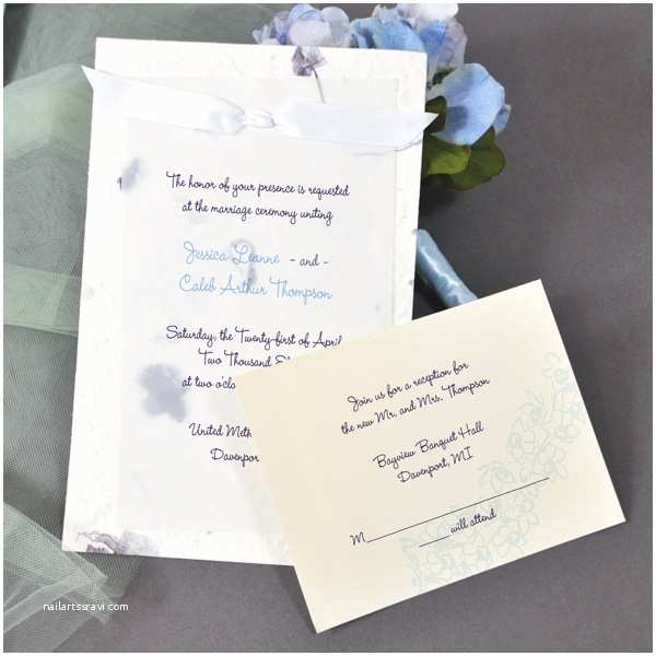 Purple Wedding Invitations Kits Purple Handmade Paper Invitation Kit Couture Bridal