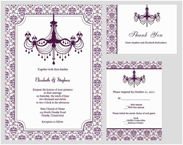 Purple Wedding Invitations Kits Wedding Invitations