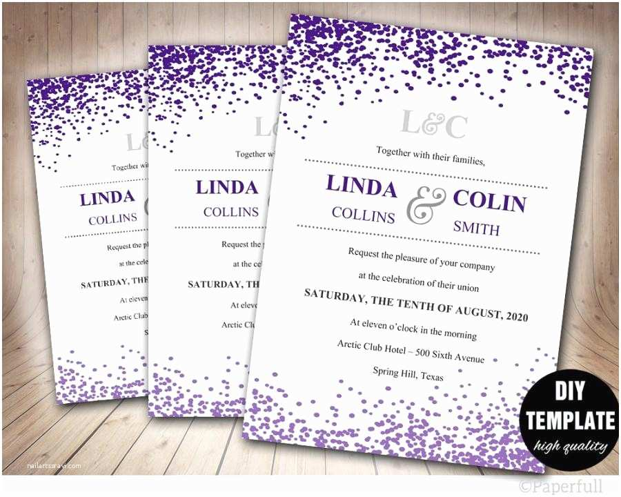 Purple Wedding Invitations Purple Wedding Invitation Templates