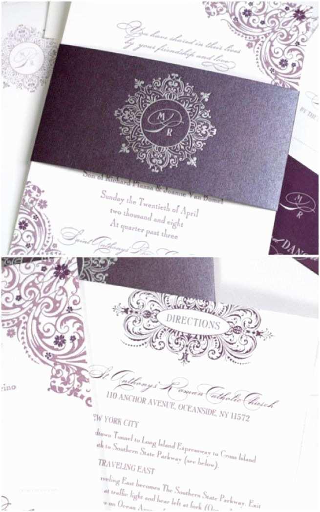 Purple Wedding Invitations Purple Wedding Invitations Yaseen for