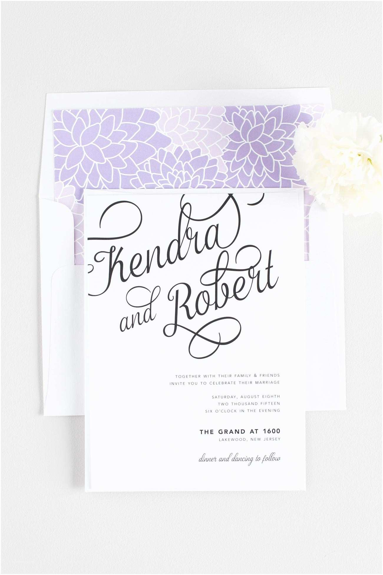 Purple Wedding Invitations Statement Wedding Invitations In Purple – Wedding Invitations
