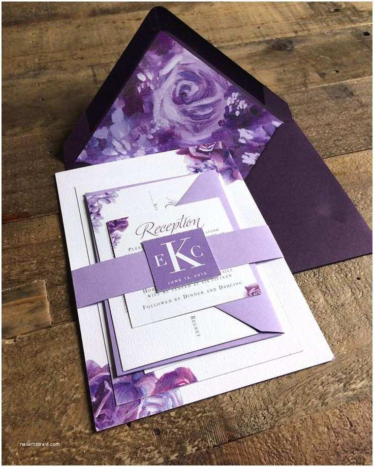 Purple Wedding Invitations top 25 Best Purple Wedding Invitations Ideas On Pinterest
