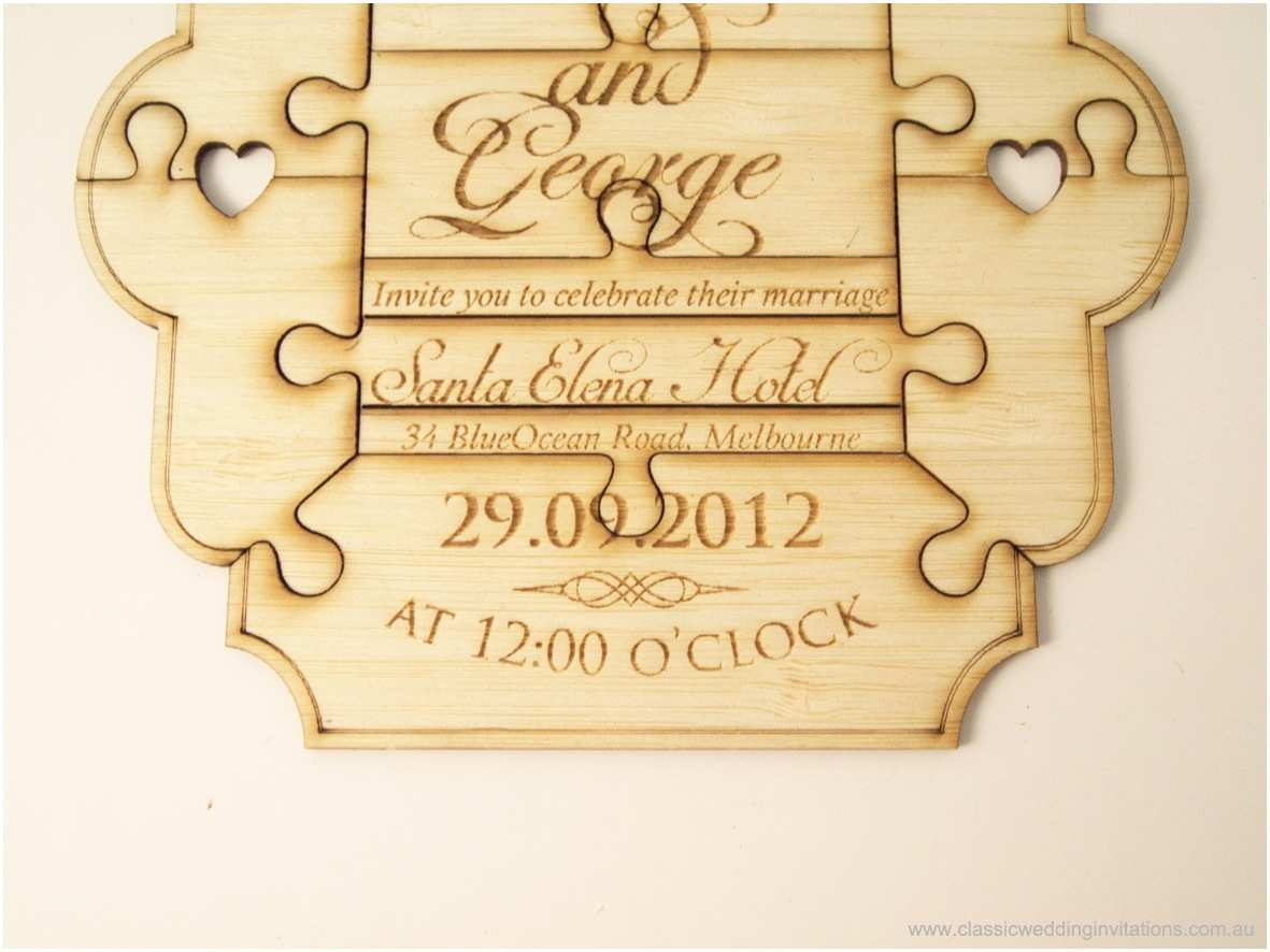 Puzzle Wedding Invitations Classic Wedding Invitations A Million Pieces – Puzzle