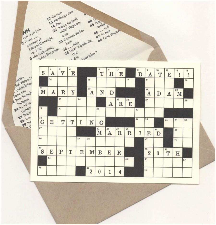 crossword puzzle save the date