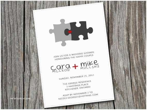 Puzzle Wedding Invitations Items Similar to Diy Printable Custom Bridal Wedding