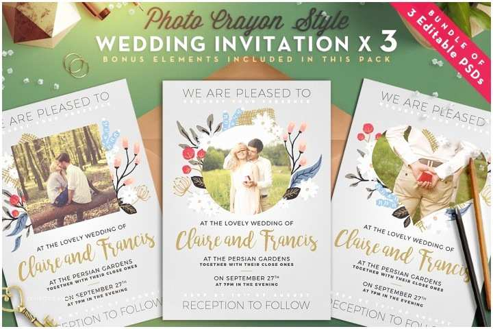 Quick Wedding Invitations Christmas Invitation Template V2 by thats Design Store