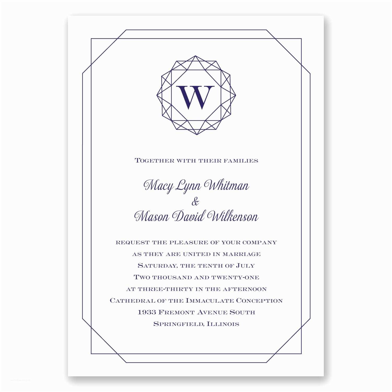 Quick Wedding Invitations Purple Wedding Invites