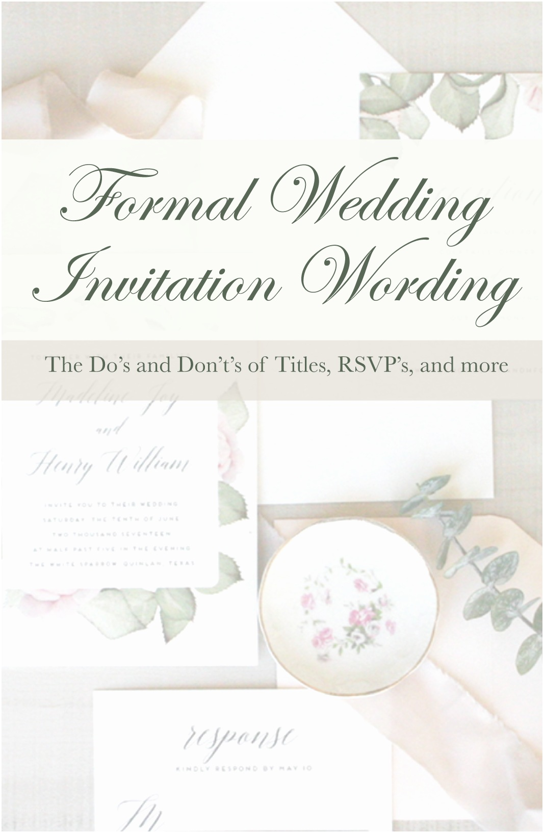 Quick Wedding Invitations Quick Guide to Wedding Invitation Wording Etiquette Pink