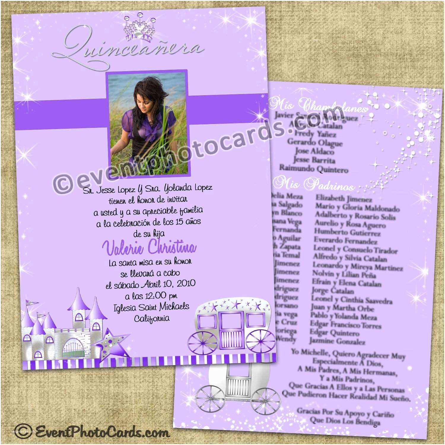 Quinceanera Invitation Wording Purple Princess Quinceanera Invitations Sweet 15