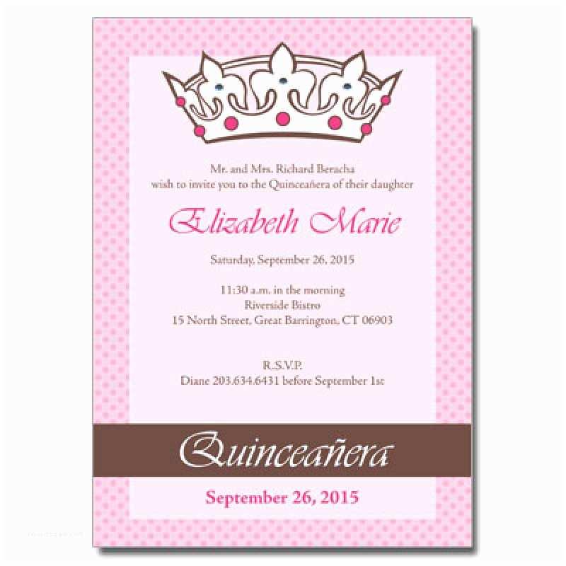 Quinceanera Invitation Wording Quince Invitation In English – orderecigsjuicefo