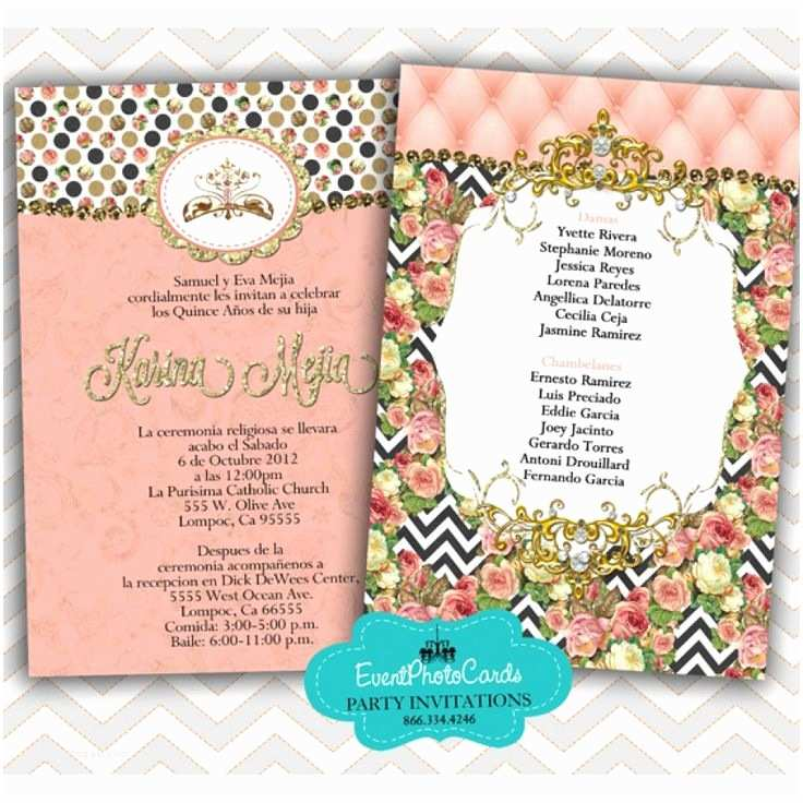 Quinceanera Invitations Ideas 18 Best Coral Theme Images