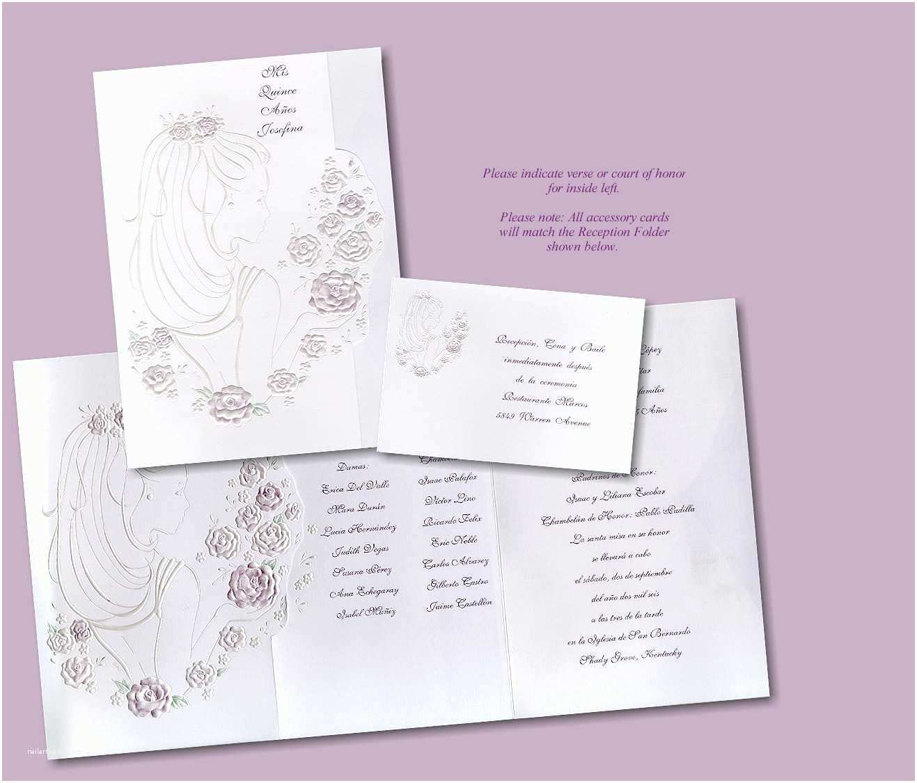 Quinceanera Invitations In Spanish Invitation Wording