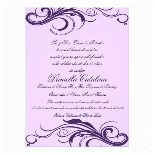 Quinceanera Invitations In Spanish Graduation Invitation Wording