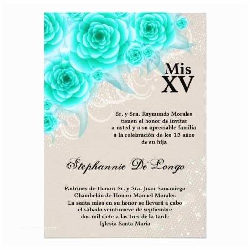 Quinceanera Invitations In Spanish Party Invitation Templates Quinceanera Invitations In