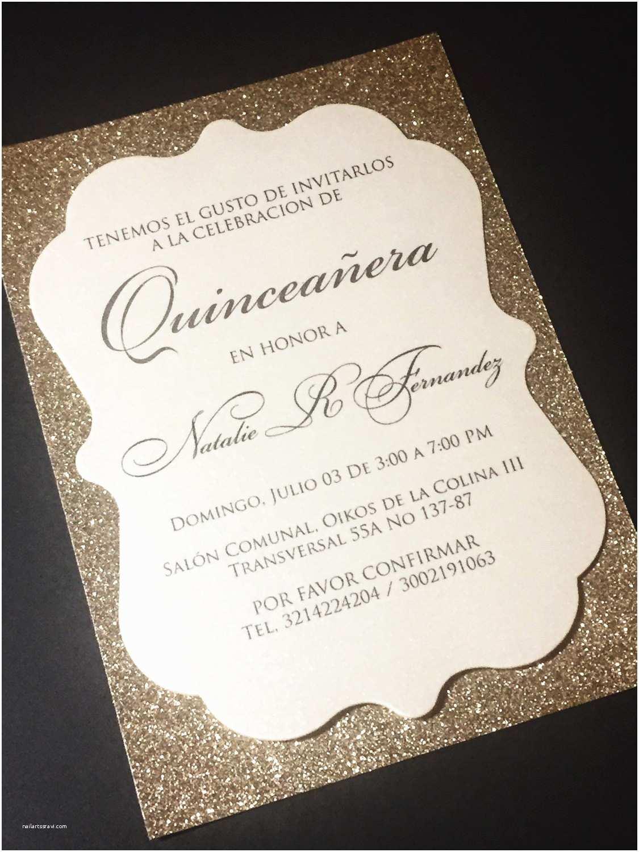 Quinceanera Invitations Quinceañera Invitation Sweet 16 Invitation Glitter