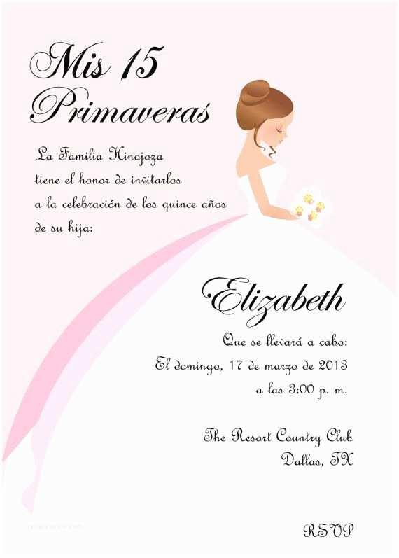 Quinceanera Invitations Wording In Spanish 13 Best Quinceanera Invitations Images On Pinterest