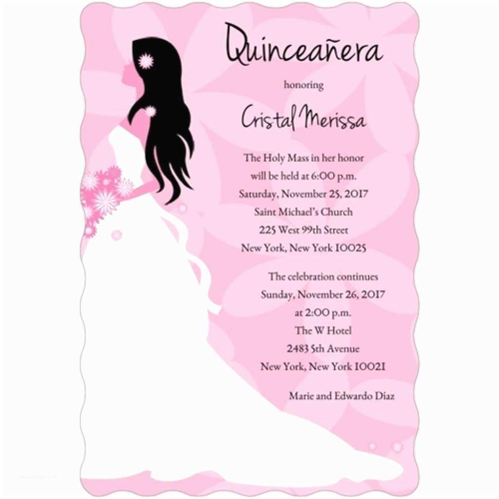 Quinceanera Invitations Wording In Spanish Invitation Sample Choice Image