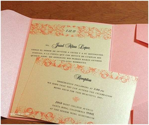 Quinceanera Invitations Wording In Spanish Wedding