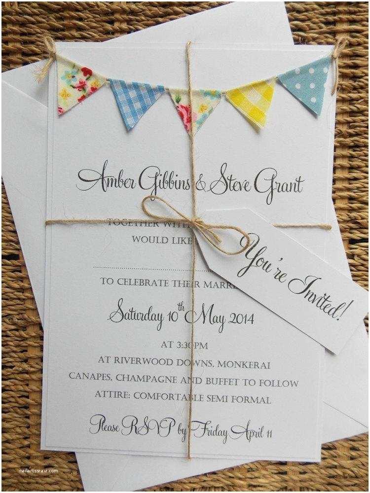Quirky Wedding Invitations Rustic Summer Wedding Invitation Vintage Spring Unique