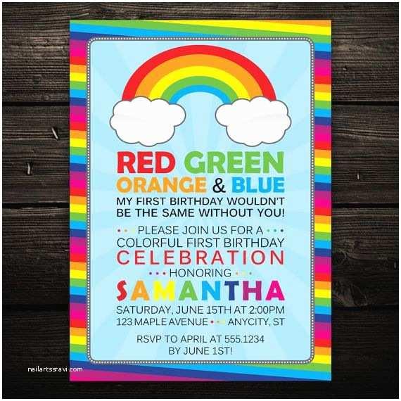 Rainbow Birthday Invitations Best 25 Rainbow Birthday Invitations Ideas On Pinterest