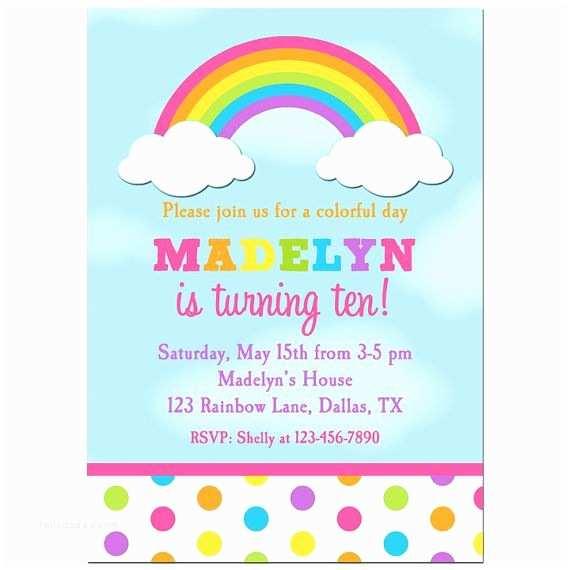 Rainbow Birthday Invitations Best 25 Rainbow Invitations Ideas On Pinterest