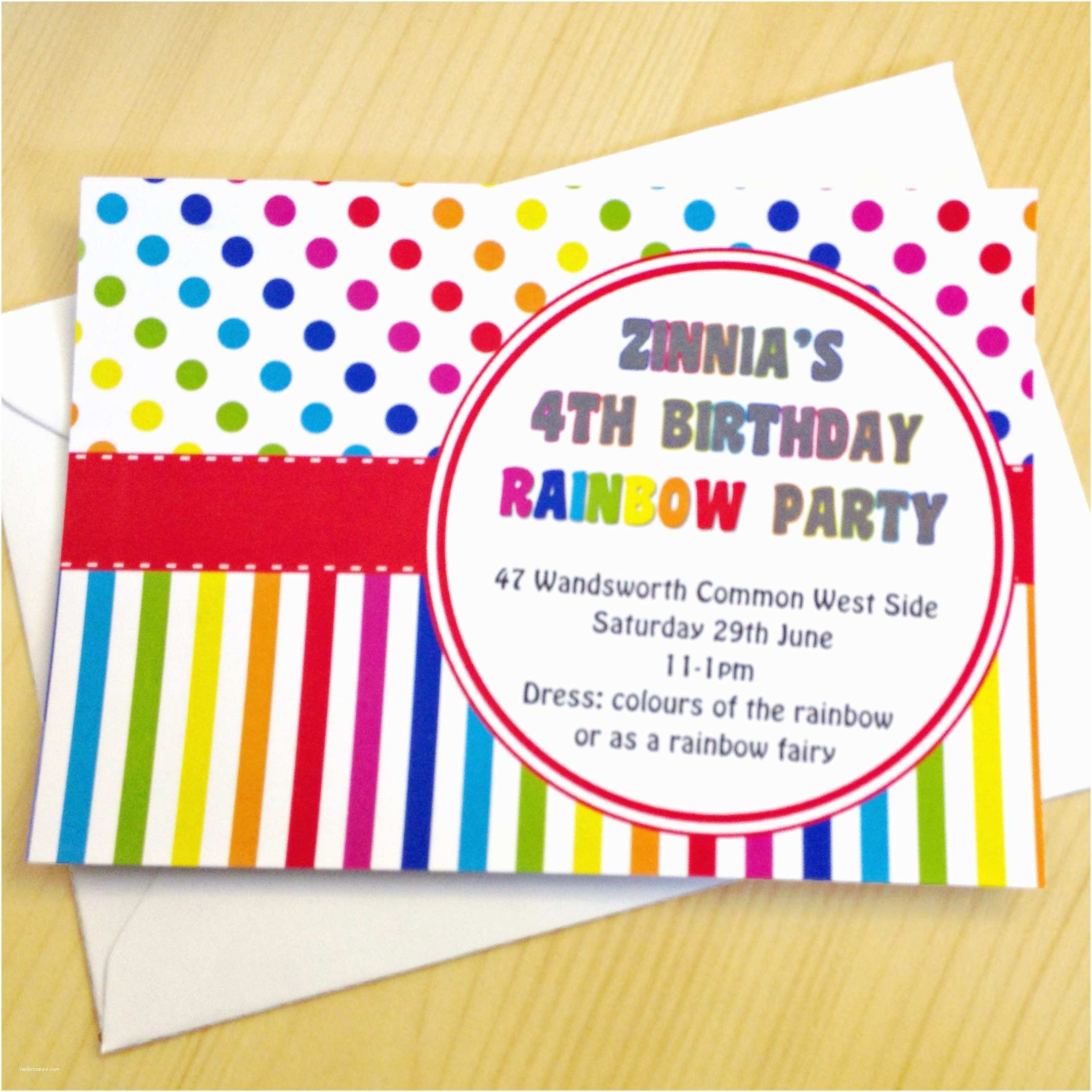 Rainbow Birthday Invitations Celebrate Summer With A Children S Themed Party