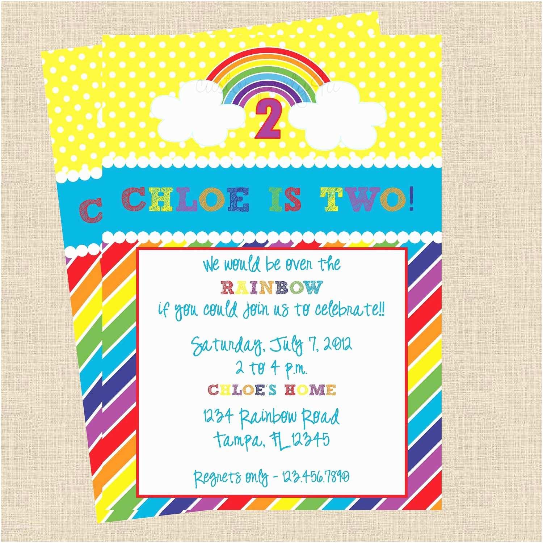 Rainbow Birthday Invitations It S A Rainbow Party Birthday Invitations Set Of 12