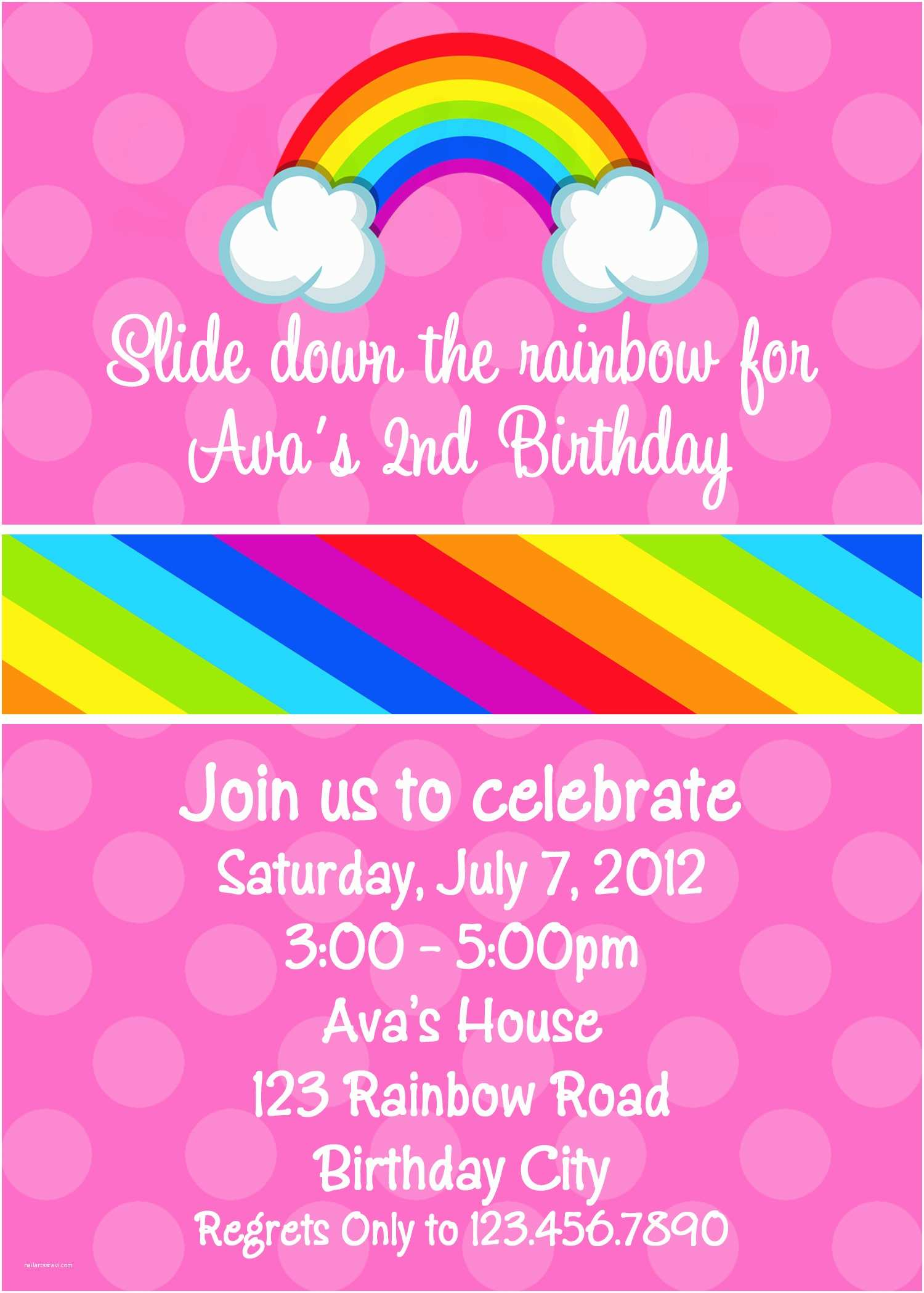 Rainbow Party Invitations 8 Best Of Rainbow Pool Party Invitation Printable