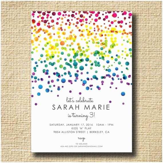 Rainbow Party Invitations Best 20 Rainbow Invitations Ideas On Pinterest—no Signup