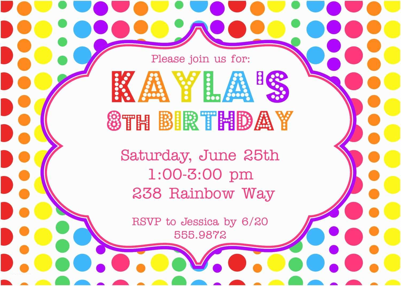 Rainbow Party Invitations Items Similar to Rainbow Birthday Party Invitation On Etsy