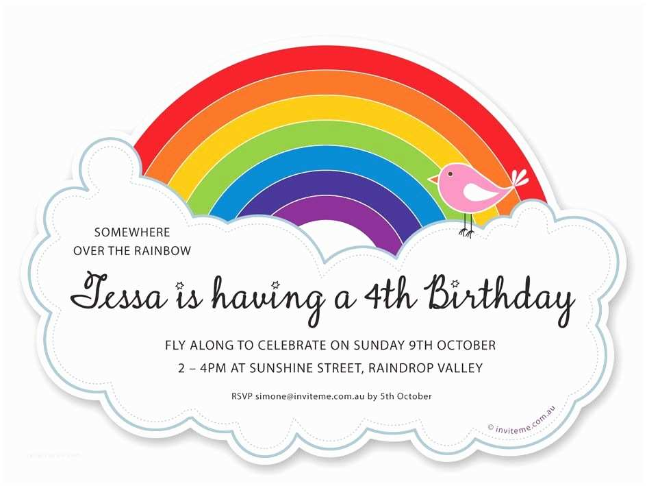 Rainbow Party Invitations Rainbow Invitations Buscar Con Google