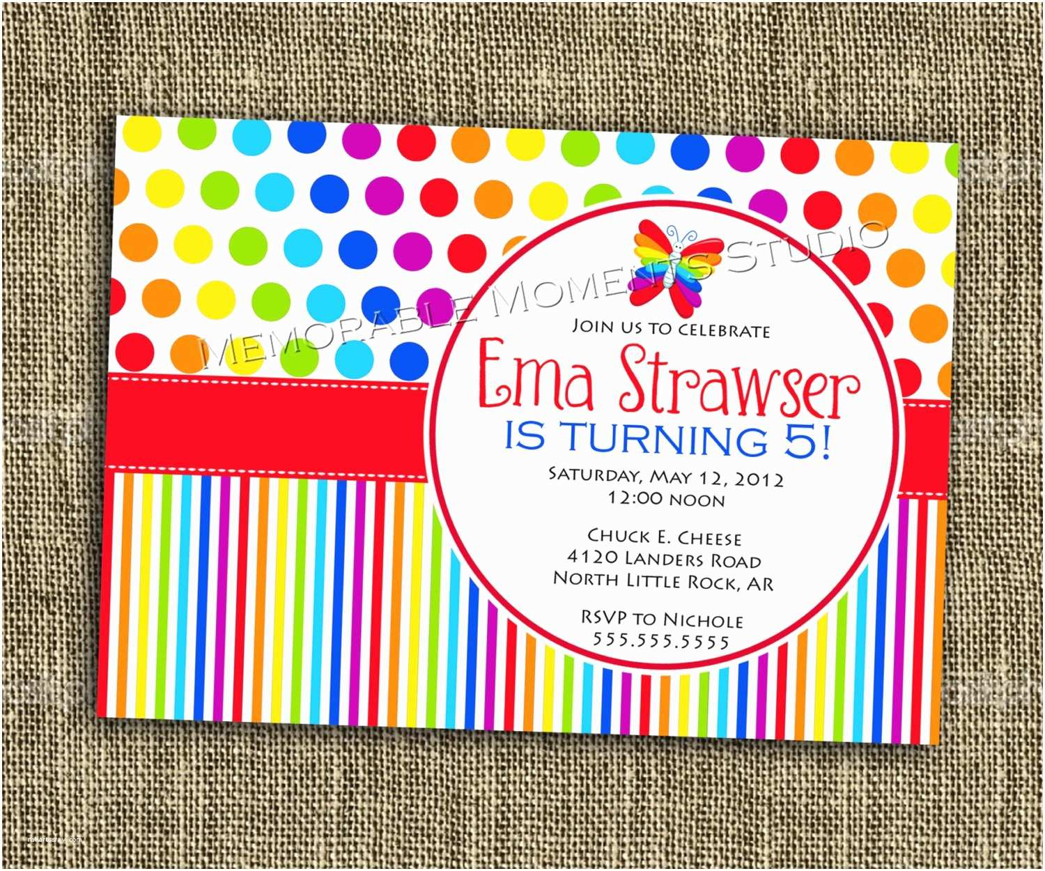 Rainbow Party Invitations Aweddingstoryblog Nailartssravi