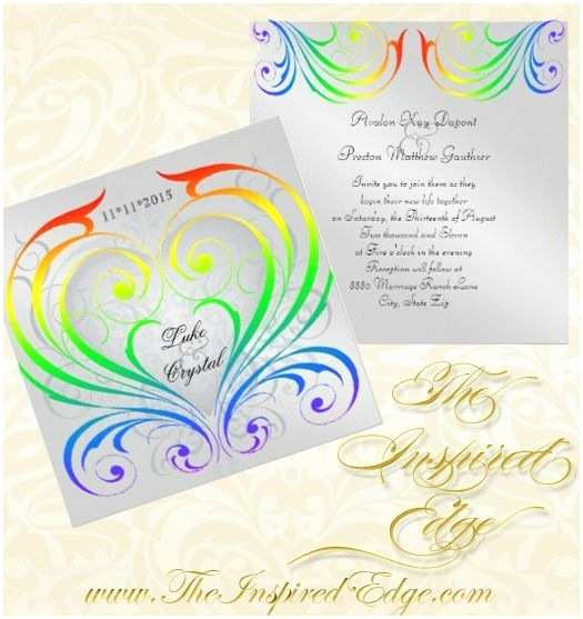 Rainbow Wedding Invitations 25 Best Ideas About Rainbow Invitations On Pinterest