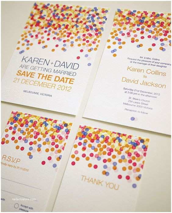 Rainbow Wedding Invitations 33 Best Ideas for Rainbow Wedding Decorations Everafterguide