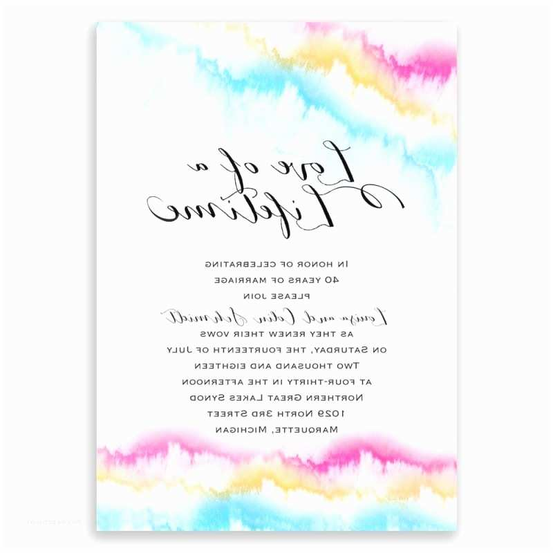 Rainbow Wedding Invitations Awesome Rainbow themed Wedding Invitations Festooning