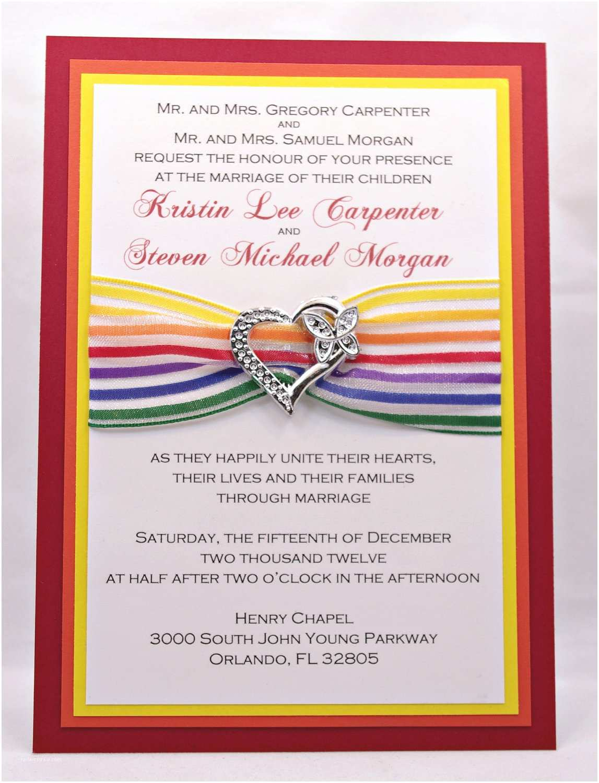 Rainbow Wedding Invitations Fun and Cheery Rainbow Wedding Invitations with by Invitebling