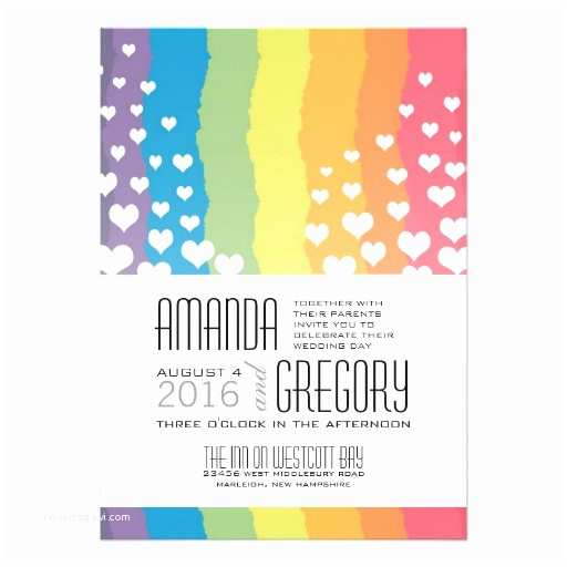 Rainbow Wedding Invitations Gay Wedding Invitations 2 000 Gay Wedding Invites