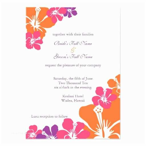 Rainbow Wedding Invitations Hibiscus Rainbow Wedding Invitation