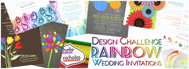 Rainbow Wedding Invitations Party Simplicity Rainbow Wedding Invitations Design