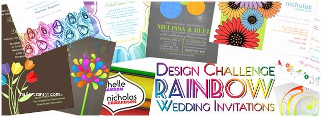 Rainbow Wedding Invitations Party Simplicity Rainbow Wedding Invitations Design