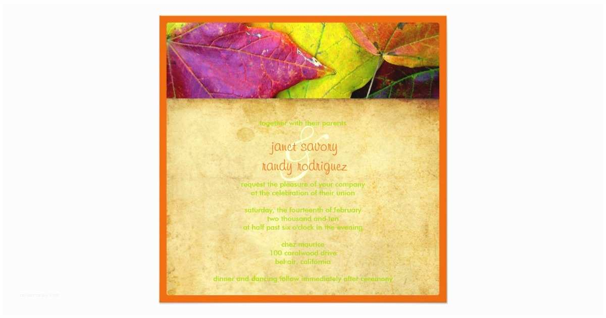 Rainbow Wedding Invitations Rainbow Fall Wedding Invitations